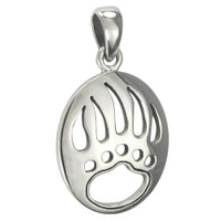 Sterling Silver Bear Claw Pendant