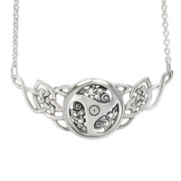 Sterling Silver Celtic Knot Triskele Necklace with 18 Inch Chain