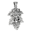 Sterling Silver Laughing Leafman Pendant
