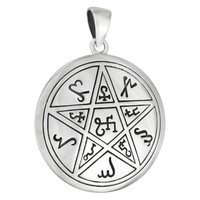 Sterling Silver Earth Pentacle Pendant