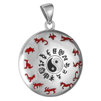 Sterling Silver Chinese Animal Zodiac Pendant