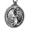 Pewter Scorpion Yin Yang Symbol Pendant