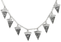 Sterling Silver Wheel of the Year Sabbats Necklace
