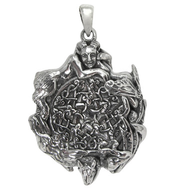 Sterling Silver Fairy Pentacle Pendant