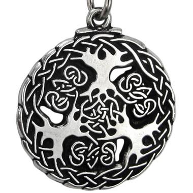 Pewter Yggdrasil Viking World Tree Pendant