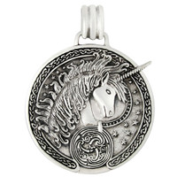 Sterling Silver Unicorn Celtic Triskelle Pendant
