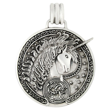 Sterling Silver Unicorn Celtic Triskelle Pendant