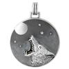 Sterling Silver Howling Werewolf Pendant