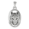 Sterling Silver Wolf Head Totem Pendant