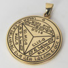 Bronze Seventh Pentacle of Saturn Protection Talisman
