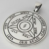 Sterling Silver Fourth Pentacle of Saturn Protection Talisman