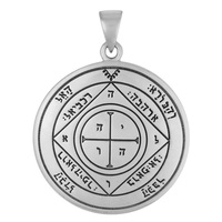Sterling Silver Fifth Pentacle of Saturn Talisman for Protection