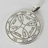 Sterling Silver Seventh Pentacle of the Sun Talisman for Freedom