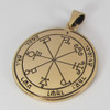 Bronze Sixth Pentacle of Saturn for Protection Talisman
