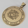 Bronze Fifth Pentacle of the Sun Talisman for Travel