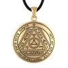 Bronze Sixth Pentacle of the Sun Talisman for Subterfuge