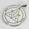 Sterling Silver Fifth Pentacle of the Moon Talisman for Protection