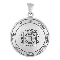 Sterling Silver Fifth Pentacle of the Sun Talisman for Travel