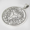 Sterling Silver Seventh Pentacle of Saturn Talisman for Defense
