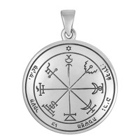 Sterling Silver Seventh Pentacle of Jupiter Talisman for Wealth