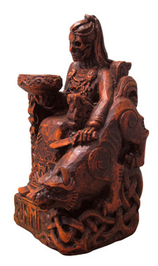 Seated Goddess Hel Statue