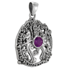 Sterling Silver Odin Sleipnir Pendant with Amethyst