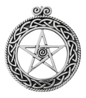 Sterling Silver Celtic Knot Pentacle Pendant