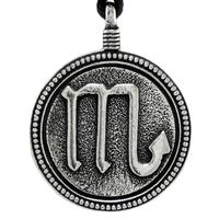 Scorpio Zodiac Sign Pewter Pendant Necklace