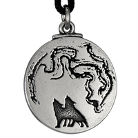 The Wolf Moon Pewter Pendant Necklace