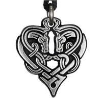 Horse Heart of Destiny - Celtic Knot Pewter Pendant Necklace