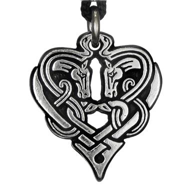 Horse Heart of Destiny - Celtic Knot Pewter Pendant Necklace