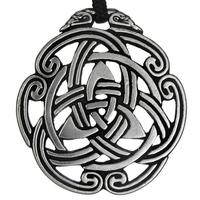 Celtic Peace Knot Triskelion Pewter Pendant Necklace