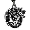 Pewter Drunken Dragon Necklace
