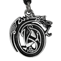 Pewter Drunken Dragon Necklace