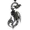 Dragon of the Moon - Pewter Pendant Necklace