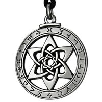 The Astrologer's Star Enochian Pewter Pendant Necklace