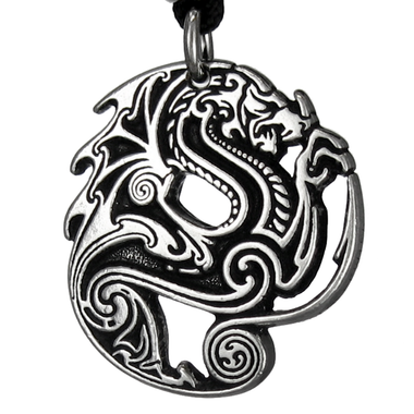 Beowulf Dragon Pendant - Pewter Pendant Necklace
