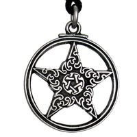 Gothic Pentacle - Pewter Pendant Necklace