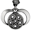 Pewter Moons of Hecate Necklace