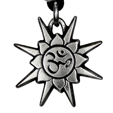 Pewter Jewel in the Lotus Necklace