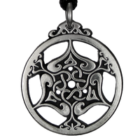 The Heart Celtic Triscele Pewter Pendant Necklace