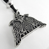Valknut Raven Warrior - Pewter Pendant Necklace