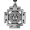 Kali Yantra of Transformation Hindu Pewter Pendant Necklace