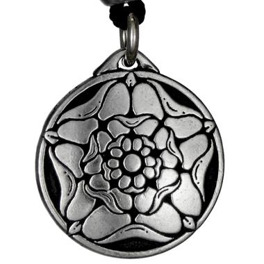 Pewter Tudor Rose Necklace