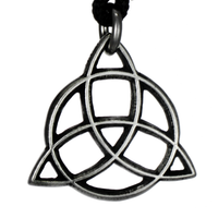 Celtic Faery's Shield Pewter Pendant Necklace