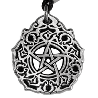 The Morningstar Pentacle Pewter Pendant Necklace