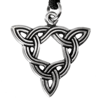 Brigid's Knot Pewter Pendant Necklace