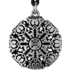 Helm of Awe Aegishjalmur Rune Pewter Pendant Necklace