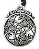 Pewter Celtic Horse Triskele Necklace