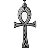 Small Egyptian Ankh Pewter Pendant Necklace